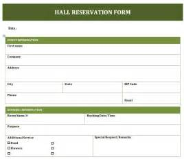 booking form template free banquet reservation form freewordtemplates net