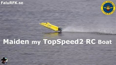 rc boats crash rc boat topspeed2 maiden for me a crash falurfk se