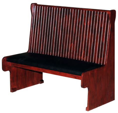 cushioned bench seats with backs wood bench with padded seat bead board back