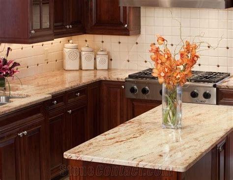 granite countertops for ivory cabinets ivory chiffon kitchen countertops beige granite
