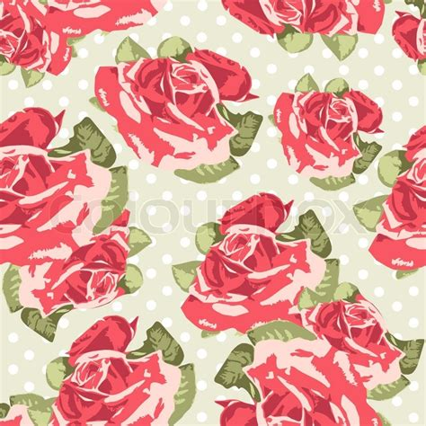 sentence pattern for this rose looks beautiful beautiful seamless rose pattern with blue polka dot