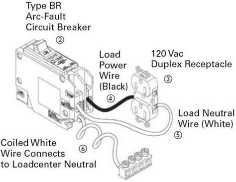 arc fault circuit breaker wiring diagram wiring diagram