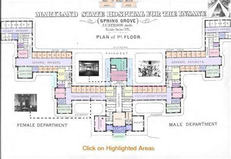floor plan hospital floor plan maryland hospital for the insane at spring grove