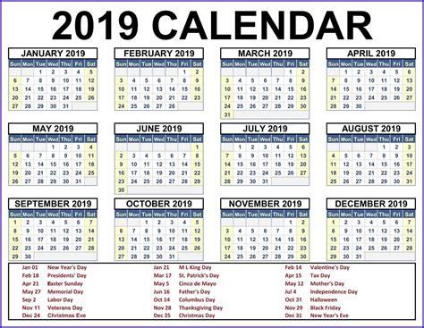printable calendar holidays yearly calendar