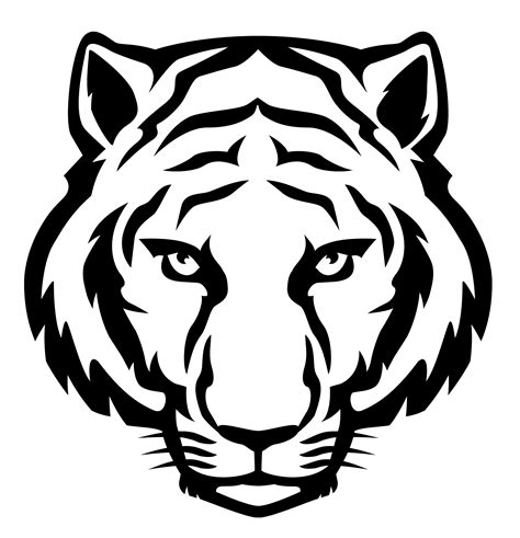 tiger template printable your free lsu tigers stencil here save time and