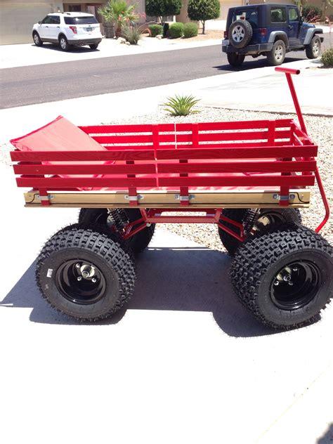 red wagon  big tires  wagon
