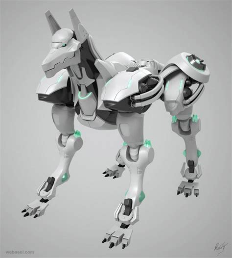 robot dogs 50 best 3d robot character designs and futuristic 3d models