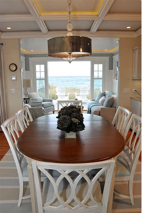 casual dining room ideas cottage with neutral coastal decor home bunch interior design ideas