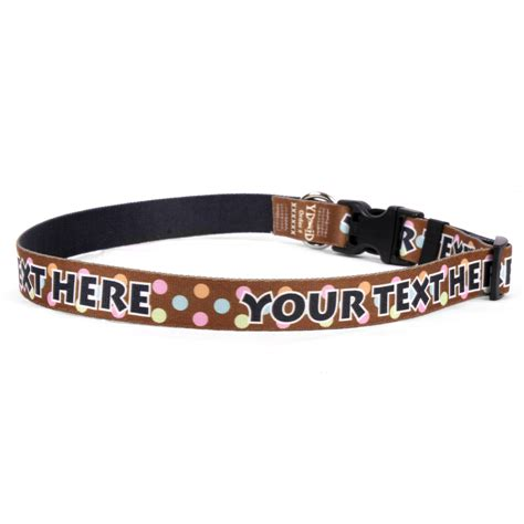 personalized puppy collars ydid custom name neopolitan polka dots collar