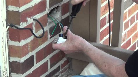 exterior outlet installing  outdoor outlet conduit
