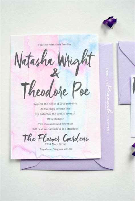 bright blue wedding invitations 25 best ideas about pastel wedding invitations on