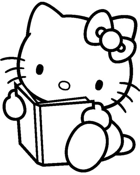 Coloriage Hello Kitty 8 X 10 Coloring Pages