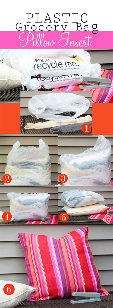 how to store pillows how to make an outdoor pillow insert using plastic grocery