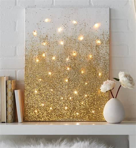String On Canvas - diy string light backlit canvas ideas crafts light