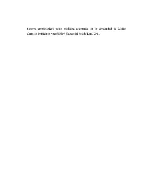 Tesis Rosendo | Plantas medicinales | Plantas