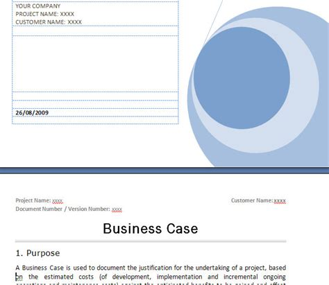 prince2 business case template prince2 business case