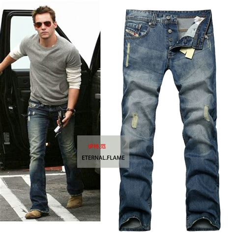 jeans style 2015 men 2015 new david beckham mens jeans washed ripped jeans for