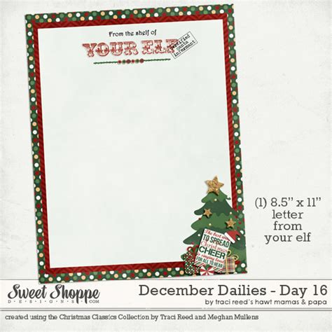 printable elf letterhead free december dailies day 16 traci reed designs