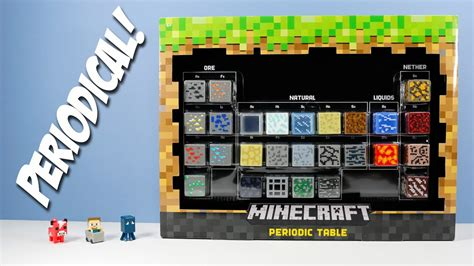minecraft periodic table of elements minecraft periodic table of elements mini figures blocks