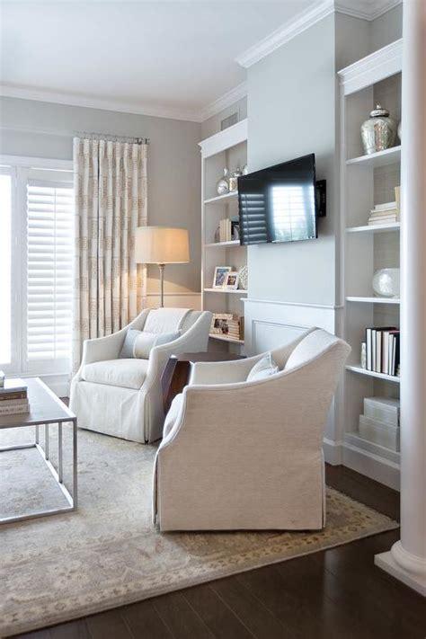 built in shelves flanking television design ideas light gray living room walls design ideas