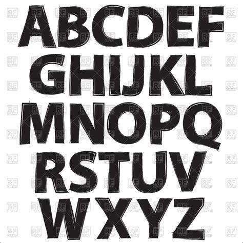 Black Letter Methodology Alphabet Black Letters On White Background Vector