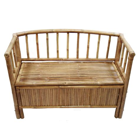 bamboo bench seat hallway entryway sturdy bamboo storage bench w arms