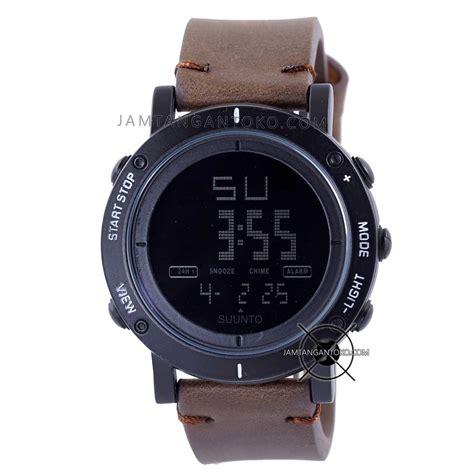 Best Seller Jam Tangan Rolex Kulit Hitam Plat Hitam Hph 1 harga sarap jam tangan suunto essential hitam coklat tua