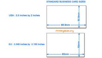 dimensions of a business card in inches business card sizes