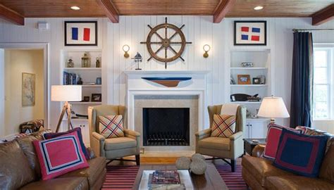 nautical decorating ideas home nautical decor ideas enhanced by vintage ship wheels and