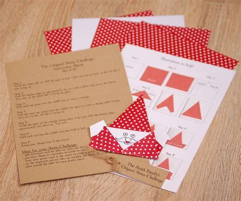 Origami Challenge - origami santa challenge by vintage twee