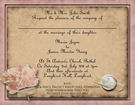 free diy vintage wedding invitation templates
