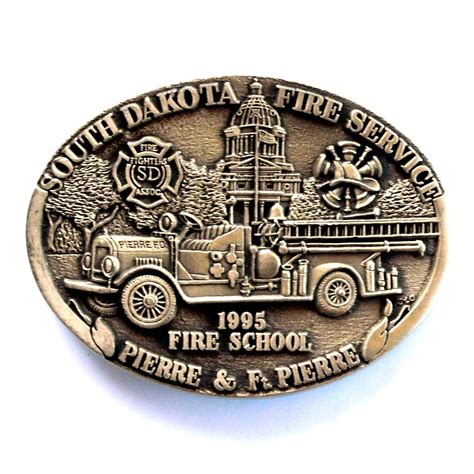 service in south dakota south dakota service award design brass belt buckle