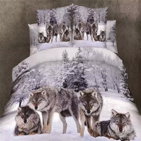 wolf comforter set queen snowflakes and wolf bedding set queen king size duvet