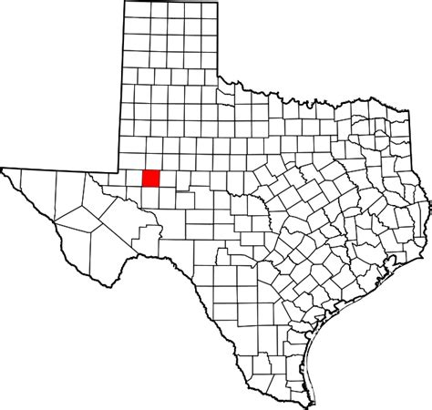 where is midland texas on a map of texas file map of texas highlighting midland county svg wikimedia commons