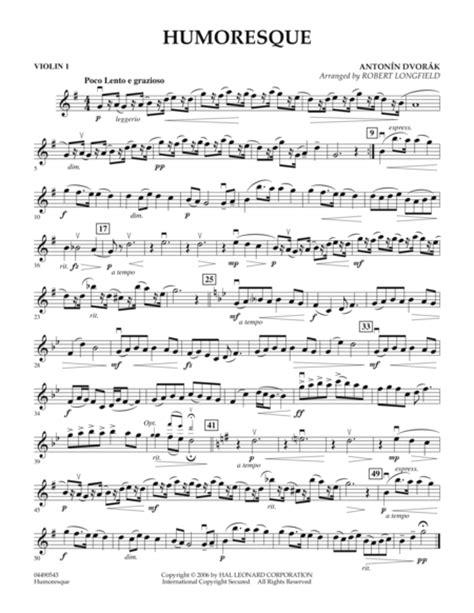 Humoresque Suzuki Book 3 Violin Humoresque Violin 1 Sheet By Antonin