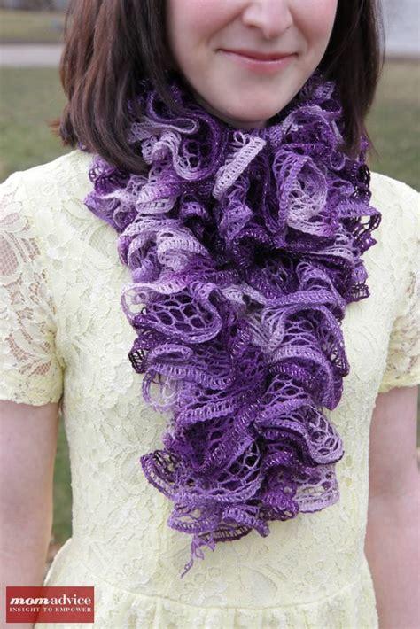 how to knit a sashay scarf sashay yarn crafts scrunchies