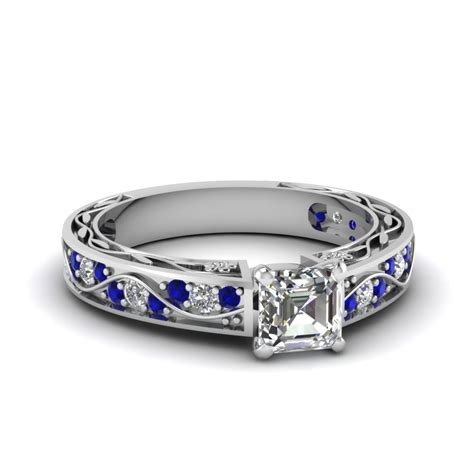 blue sapphire engagement rings fascinating diamonds