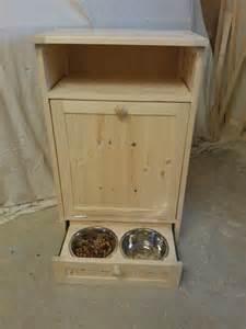 Food Storage Cabinet Pet Food Cabinet Storage Organizer Cat Feeding Station Unit Ebay