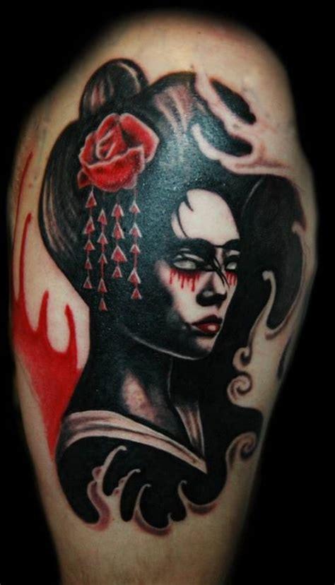 geisha tattoo on dark skin creative portrait tattoos best tattoo 2014 designs and