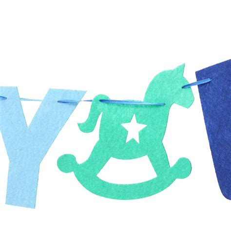 Baby Shower Flag Banner by Baby Boy Baby Shower Bunting Garland Hanging Banner Flag