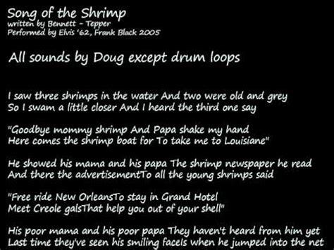 shrimp boat song youtube song of the shrimp frank black cover youtube