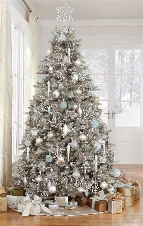 decorated christmas trees on pinterest stunning in silver homedecorators holiday2015