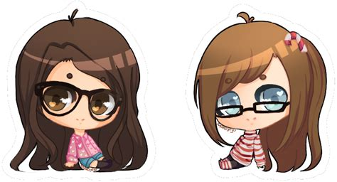 chibi girls 2 a request mofojuju and candycane chibi friends by mofojuju on