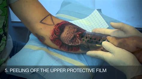tattoo aftercare youtube zoo tattoo how to apply dermalize protective tattoo film