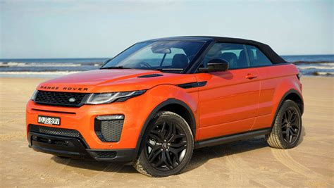 orange range rover land rover range rover evoque convertible 2016 review