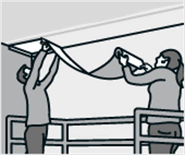 Tapezieren Abstand Zur Decke by Vliestapete Tapezieren Anleitung Der Hornbach