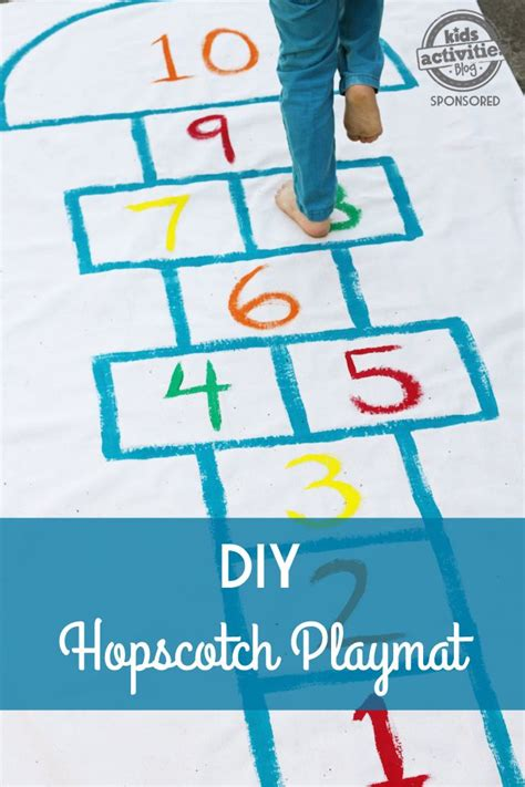 diy hopscotch playmat plays snacks and hopscotch