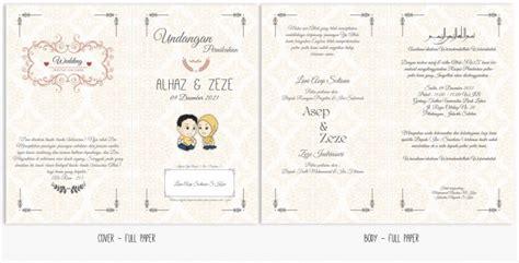 download layout undangan pernikahan desain undangan pernikahan full simple creative