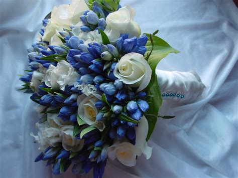 Flowers Wedding Bouquets by Wedding Flowers Blue Wedding Bouquets