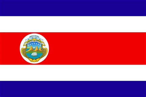 flag of costa rica a symbol of peace and determination